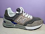 Чоловічі кросівки в стилі New Balance 997 euroncap reveal Grey, фото 2