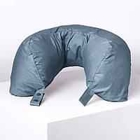 Подушка для путешествий под шею с перьями Travel Blue Серая (215)