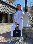 Женский спортивный костюм из атласа с довязами и мастеркой на молнии 7105891, фото 2