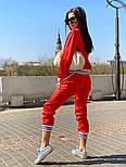Женский спортивный костюм из атласа с довязами и мастеркой на молнии 7105891, фото 4