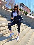 Женский спортивный костюм из атласа с довязами и мастеркой на молнии 7105891, фото 5
