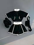 Женский летний костюм с шортами и топом со светоотражением 6610599E, фото 2
