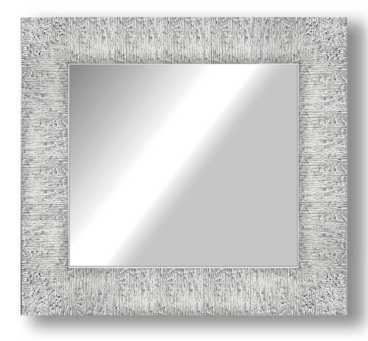 Дзеркало настінне в рамі Factura Textured silver 47х47 см срібло