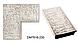 Дзеркало настінне в рамі Factura Textured silver 47х47 см срібло, фото 2