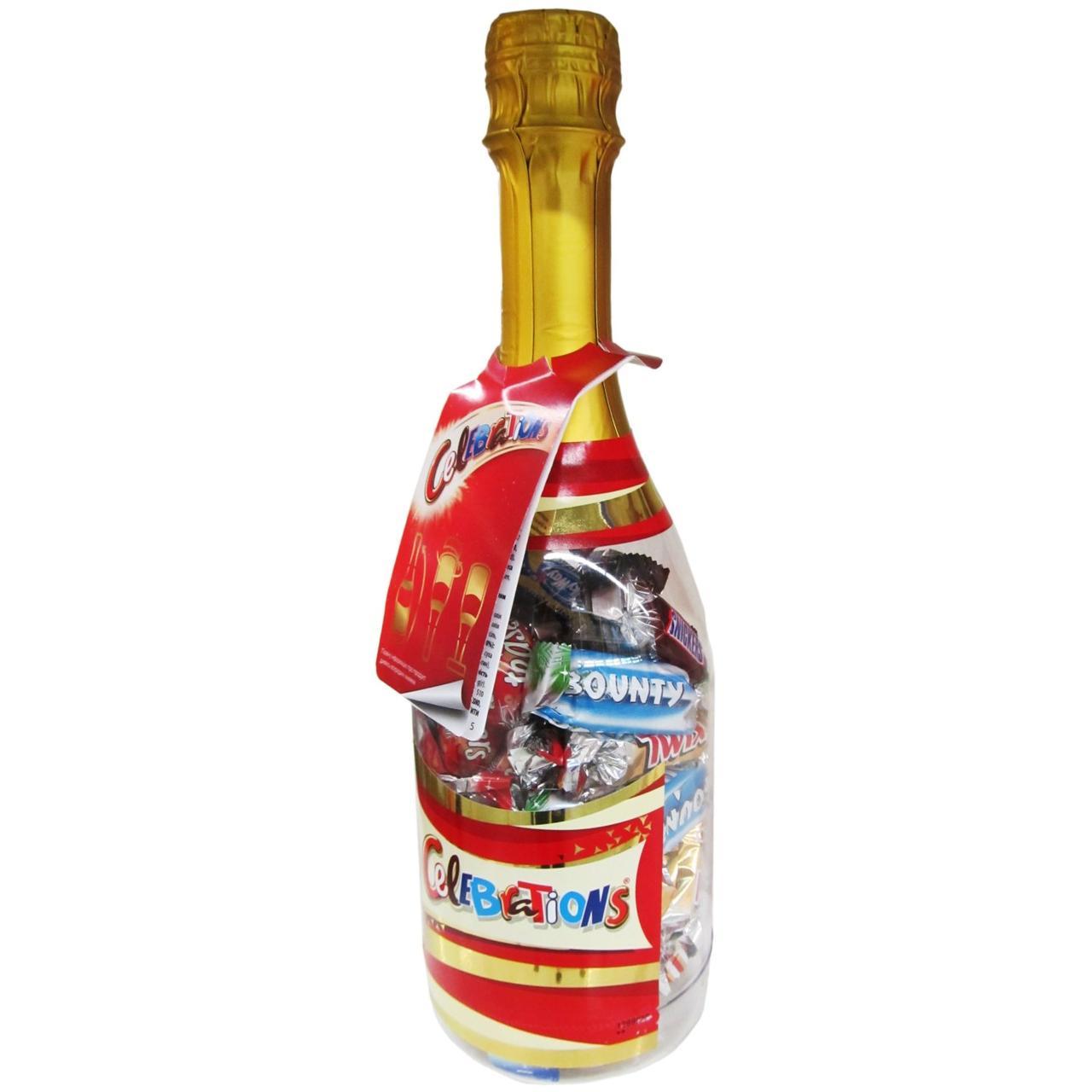 Конфет Celebrations в подарочной бутылке