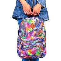 Женский городской спортивный рюкзак с принтом