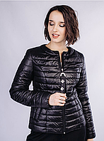 Черная легкая женская куртка (42-48) весна-лето