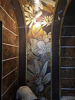 Мраморная мозаика из натурального камня.