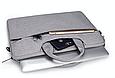 Сумка для ноутбука 15.6 дюймов - темно серый, фото 3