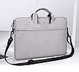 Сумка для ноутбука 15.6 дюймов - темно серый, фото 5