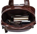 Рюкзак – трансформер кожаный Vintage 14889 Коричневый, Коричневый, фото 4