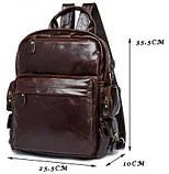 Рюкзак – трансформер кожаный Vintage 14889 Коричневый, Коричневый, фото 5