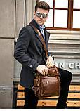 Рюкзак – трансформер кожаный Vintage 14889 Коричневый, Коричневый, фото 6