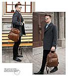 Рюкзак – трансформер кожаный Vintage 14889 Коричневый, Коричневый, фото 7