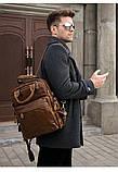Рюкзак – трансформер кожаный Vintage 14889 Коричневый, Коричневый, фото 8