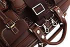 Сумка мужская Vintage 14075 кожаная Коричневая, Коричневый, фото 8