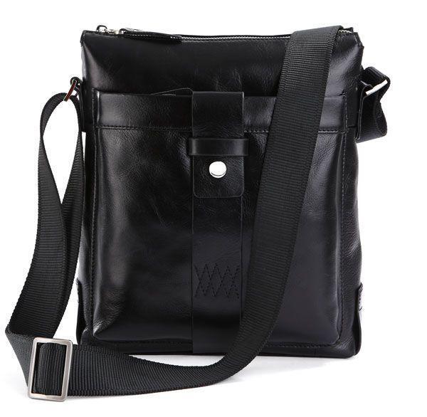 Сумка мужская Vintage 14087 кожаная Черный, Черный