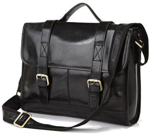 Портфель Vintage 14064 кожаный Черный, Черный