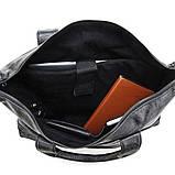 Сумка мужская Vintage 14067 с ручками Черная, Черный, фото 7