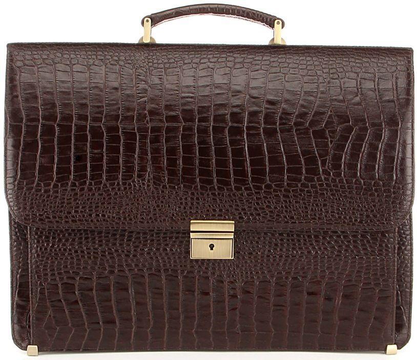 Портфель деловой SHVIGEL 00363 из натуральной кожи Коричневый, Коричневый