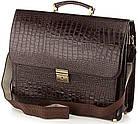 Портфель деловой SHVIGEL 00363 из натуральной кожи Коричневый, Коричневый, фото 2