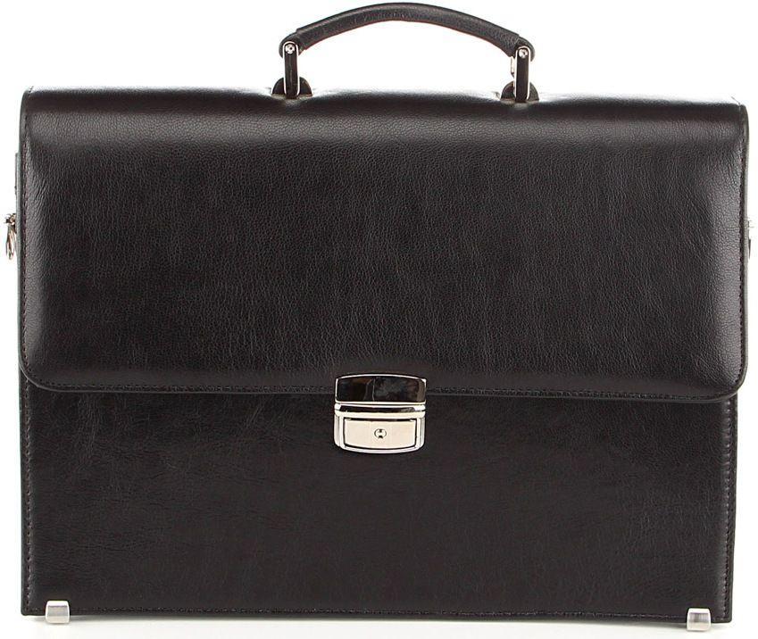 Портфель SHVIGEL 00365 из натуральной кожи Черный, Черный