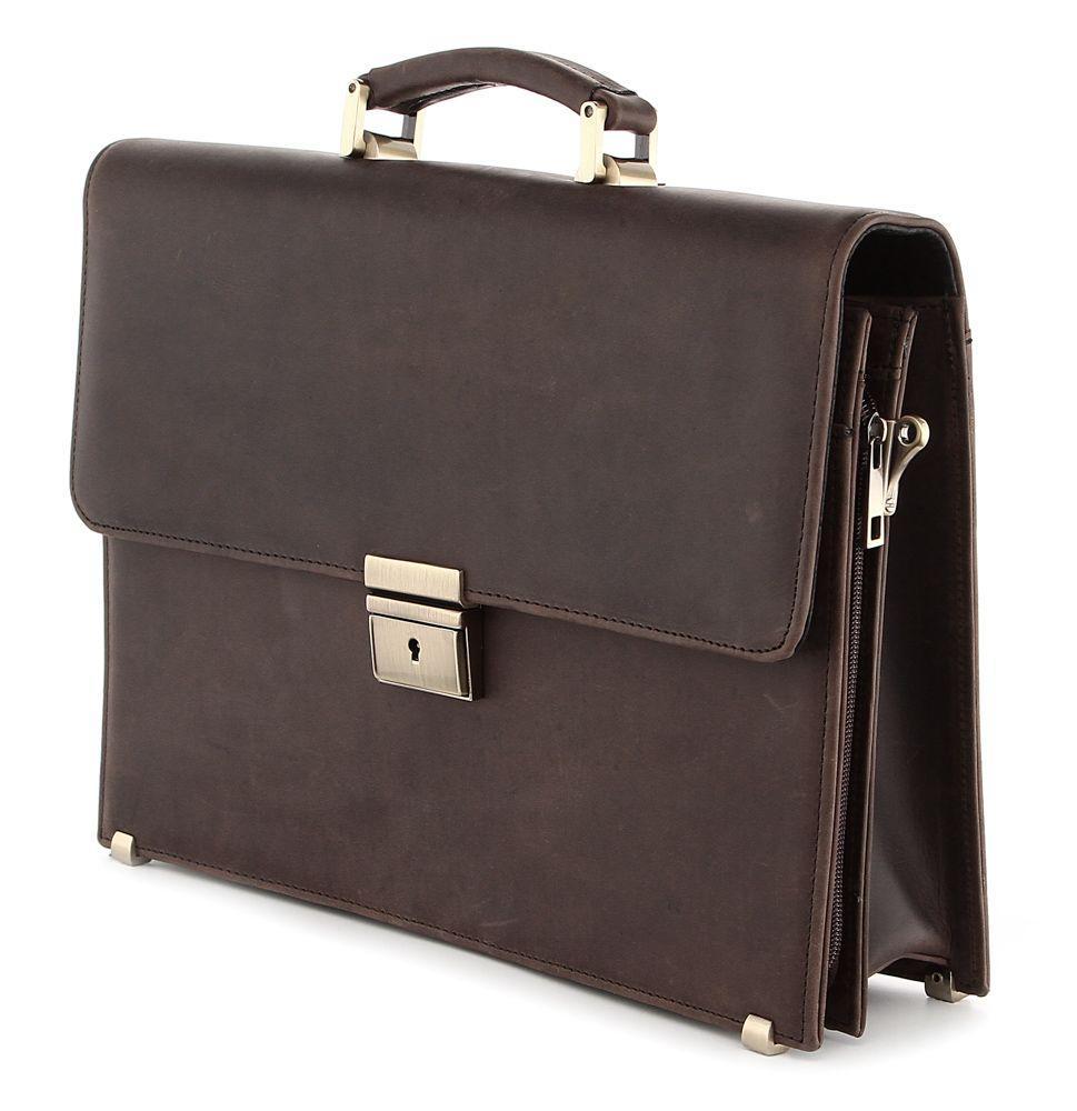 Портфель SHVIGEL 00752 из винтажной кожи Коричневый, Коричневый
