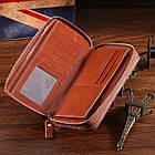 Мужской клатч Vintage 14192 Коричневый, Коричневый, фото 7