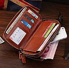 Мужской клатч Vintage 14192 Коричневый, Коричневый, фото 8
