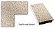 Зеркало настенное в раме Factura Textured beige 52.5х52.5 бежевое, фото 2