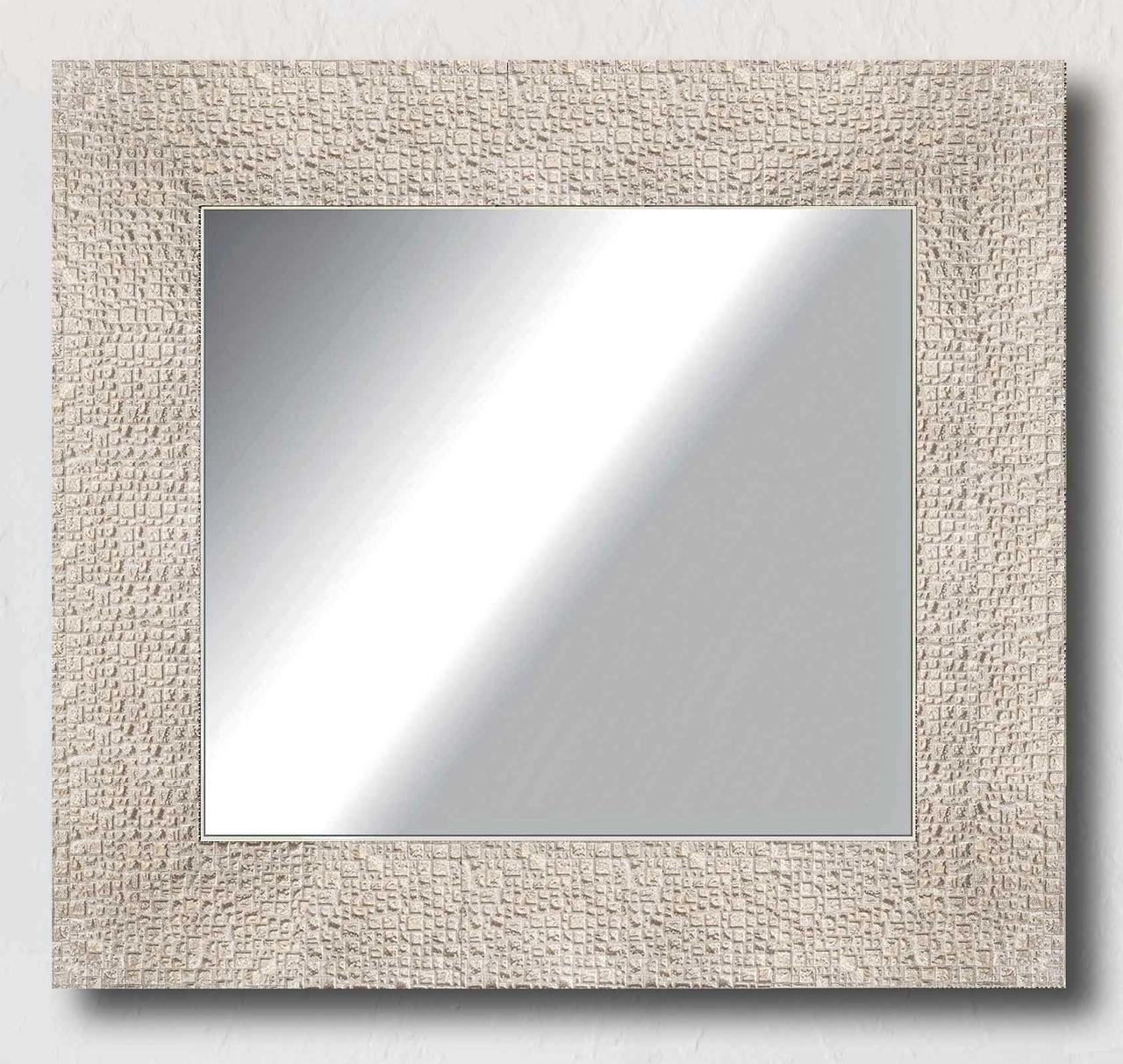Зеркало настенное в раме Factura Textured beige 52.5х52.5 бежевое