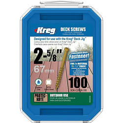 Саморірізи для Kreg Deck Jig 66,7 мм, 100шт
