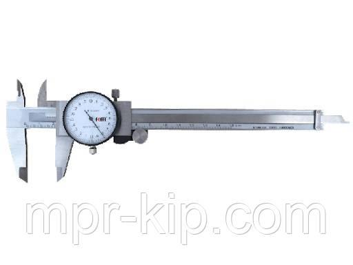 Штангенциркуль KM-DC150 (150 мм/0,02 мм) стрілочний Shock-ProoF