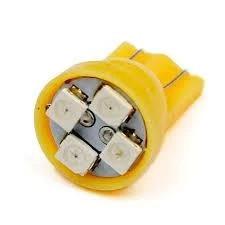 T10 4-SMD LED W5W лампочка автомобильная желтый