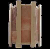 Огорожа світильника кутова GREUS з гімалайською соллю на 4,5 плитки для лазні та сауни
