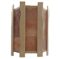 Ограждение светильника угловое GREUS с гималайской солью на 4,5 плитки для бани и сауны