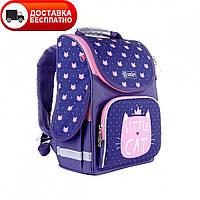 Рюкзак школьный каркасный SMART 558049 PG-11 Little Cat