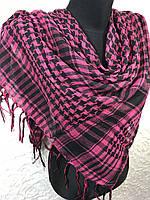 Малиновый платок в клетку Арафатка (цв.01), фото 1