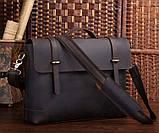 Портфель Vintage 14237 винтажная кожа Коричневый, Коричневый, фото 2