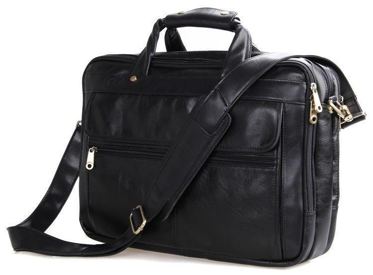 Сумка мужская Vintage 14242 для ноутбука 15.6 Черная, Черный