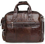 Сумка мужская Vintage 14370 Коричневая, Коричневый, фото 7