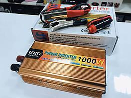 Преобразователь 1000W чистая синусоида 12V-220V UKC
