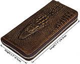 Мужской клатч Vintage 14462 кожа под крокодила Коричневый, Коричневый, фото 2