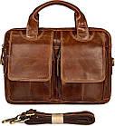 Сумка мужская Vintage 14517 кожаная Коричневая, Коричневый, фото 2