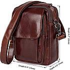 Сумка Vintage 14528 из натуральной кожи Коричневая, Коричневый, фото 3