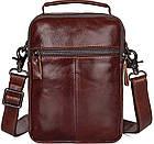 Сумка Vintage 14528 из натуральной кожи Коричневая, Коричневый, фото 4