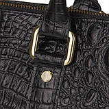 Сумка Vintage 14540 из натуральной кожи Черная, Черный, фото 3