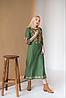 Женское платье с вышивкой Ровена зеленая, фото 2