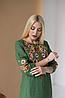 Женское платье с вышивкой Ровена зеленая, фото 4