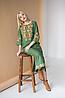 Женское платье с вышивкой Ровена зеленая, фото 5